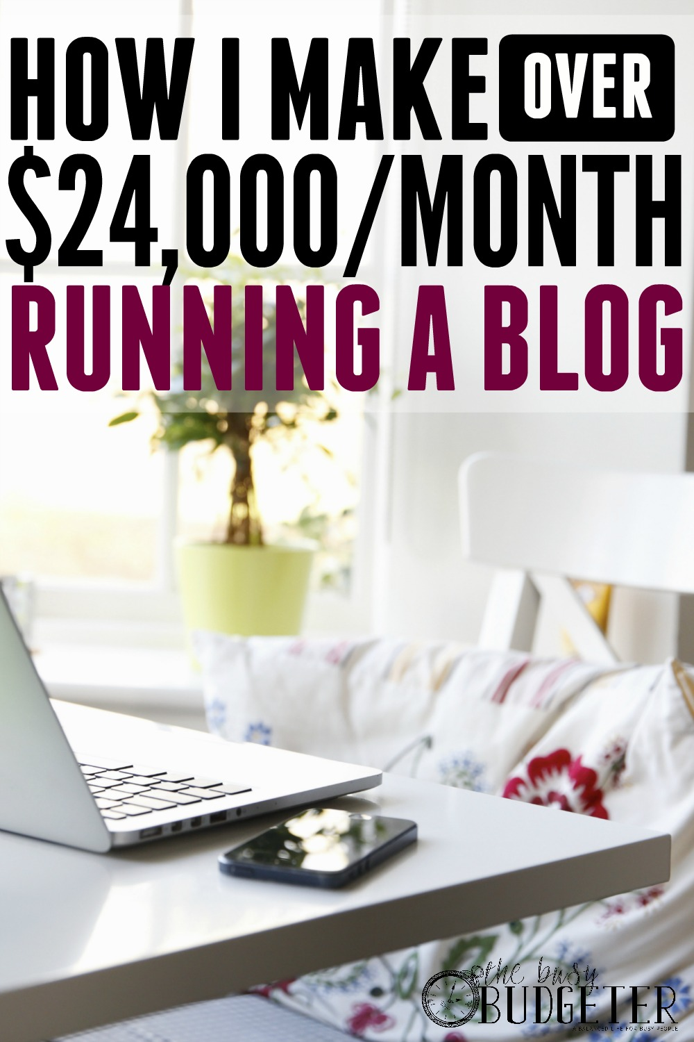 How I make over $24,000/month running a blog. ***LOVE*** I've read this girls blog from almost the beginning. It was crazy to see her grow it so quickly! I love that she's so honest about exactly what makes her money blogging and the strategy that she followed to get there.