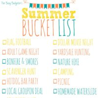 Cheap and Unique Summer Bucket List