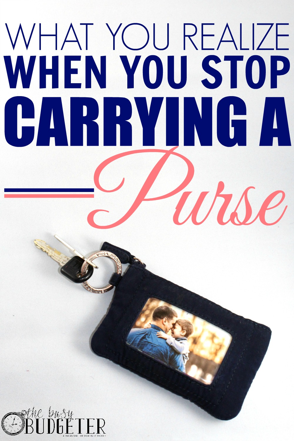 Ditch Your Purse: Seriously! Totally agree! My purse weighed like 10 pounds and was full of junk! It's so freeing to not have to lug that thing around anymore!