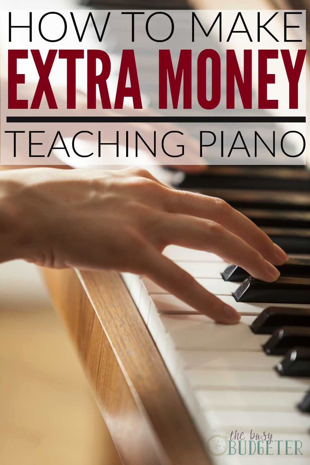 How to make extra money teaching piano. What a genius freaking idea! I took lesson through school and could easily make a little extra money teaching piano lessons to kids! What a great idea to get out of debt by making extra money!