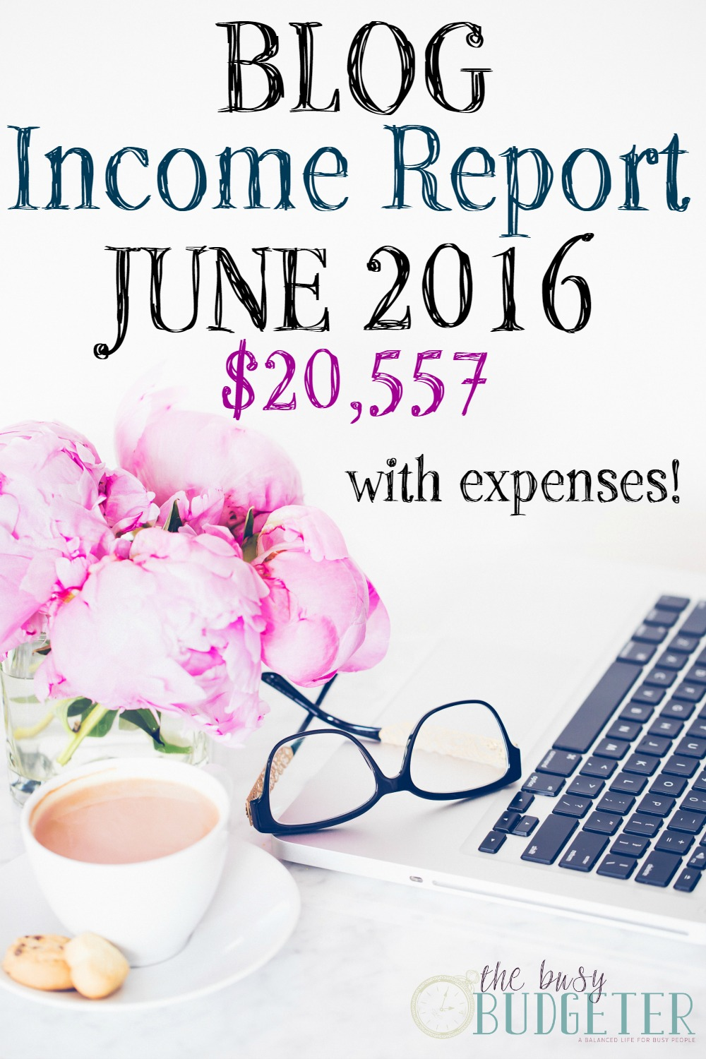 Blog Income Report June 2016- $20,557. I read blogging income reports all the time as a blogger and I've never seen one that spell out her strategy so detailed. The expenses and how she explains her salary are priceless. I make income from blogging, but I struggle with budgeting it since it's up and down every month. This would totally work for me.