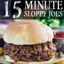 15 Minute Sloppy Joes