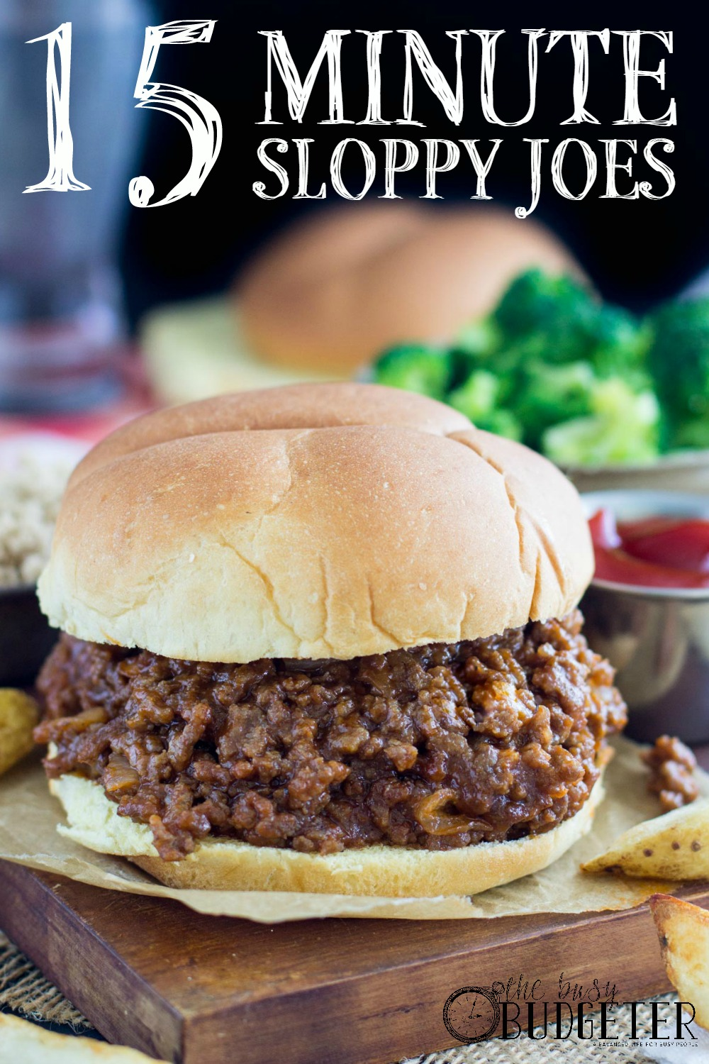 15 minute sloppy joes-Jaw drop. These were amazing! My husband ate half the batch! They were so easy to make too and I'm a terrible cook. **Save for later