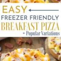 15 Minute Breakfast Pizza Bagel (Freezer Friendly!)