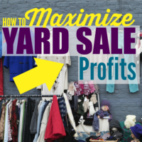 How to Maximize Yard Sale Profits