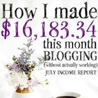 July 2016 Blogging Income Report