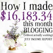 July 2016 Blogging Income Report