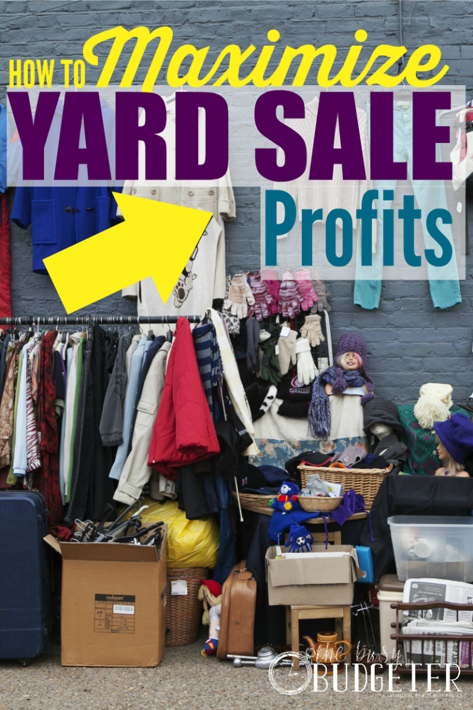 How to Maximize Yard Sale Profits. 😞 I wish i saw this last month. We did okay, and made $400 in 3 hours but I'm kicking myself as I read this because it makes so much sense! Why didn't I think of the craigslist trick?!