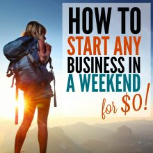 How to Create a Side Business This Weekend for $0