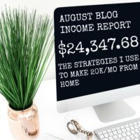 August 2016 Blogging Income Report
