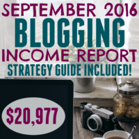 September 2016 Blogging Income Report