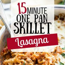 15 Minute One Pot Lasagna