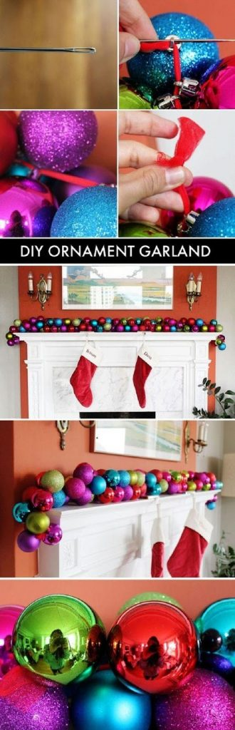 This garland project would be great over a tree or as a mantle piece! www.busybudgeter.com