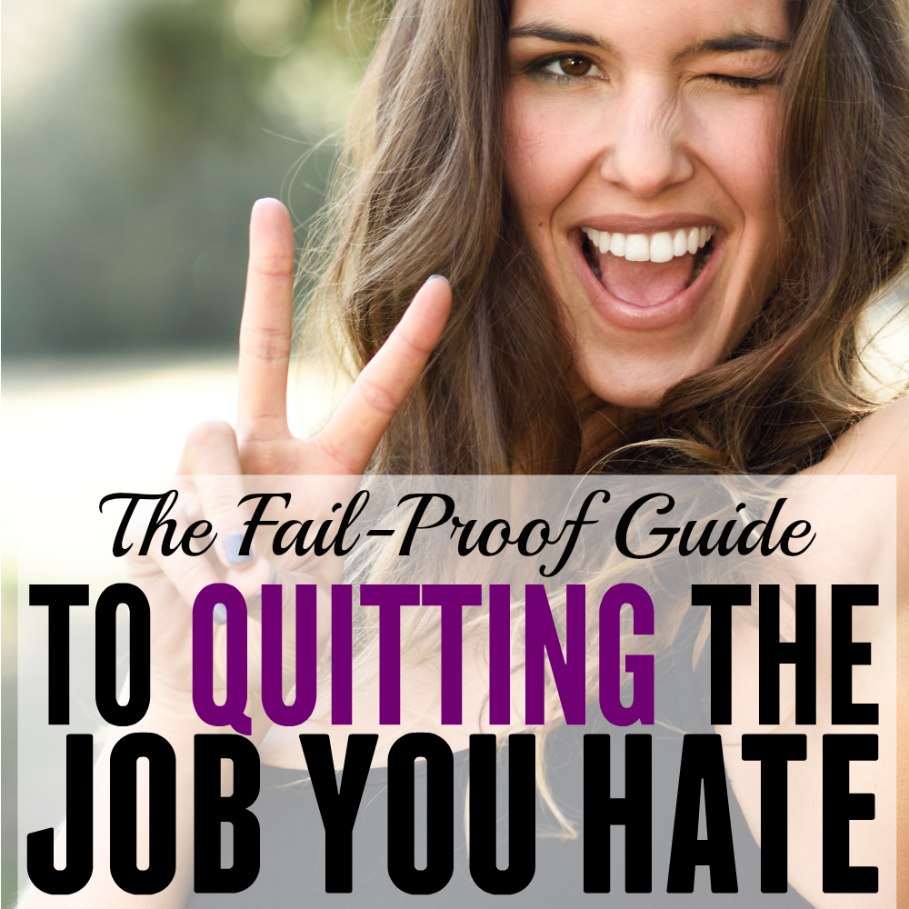 How to Quit Your Job (and find one that you love.) This makes me so excited! I would love to quit my job and find a career that I LOVE. This step by step system was easy to implement and full of action steps. It sounds simple- but as soon as I did it, I am super excited about my future!