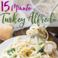 15 Minute Leftover Turkey Alfredo