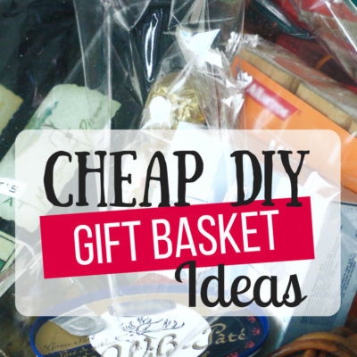 Cheap DIY Gift Basket Ideas- Perfect timing! So many great ideas! I was able to whip up two baskets today just from stuff we had in our house! As in, I spent nothing for two great gifts! Cheap DIY Gift baskets indeed bwahaha. I've been on Pinterest for weeks trying to find unique Christmas gift ideas for our tight budget. We don't have a lot of money but still wanted to give good christmas gifts. This was an answer to my prayers. ?