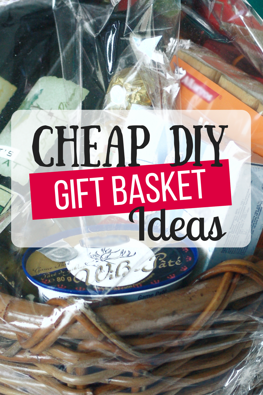 Cheap DIY Gift Baskets Ideas- Perfect timing! So many great ideas! I was able to whip up two baskets today just from stuff we had in our house! As in, I spent nothing for two great gifts! Cheap DIY Gift baskets indeed bwahaha. I've been on Pinterest for weeks trying to find unique Christmas gift ideas for our tight budget. We don't have a lot of money but still wanted to give good Christmas gifts. This was an answer to my prayers. ?
