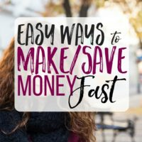 How to Save/Make Money Fast
