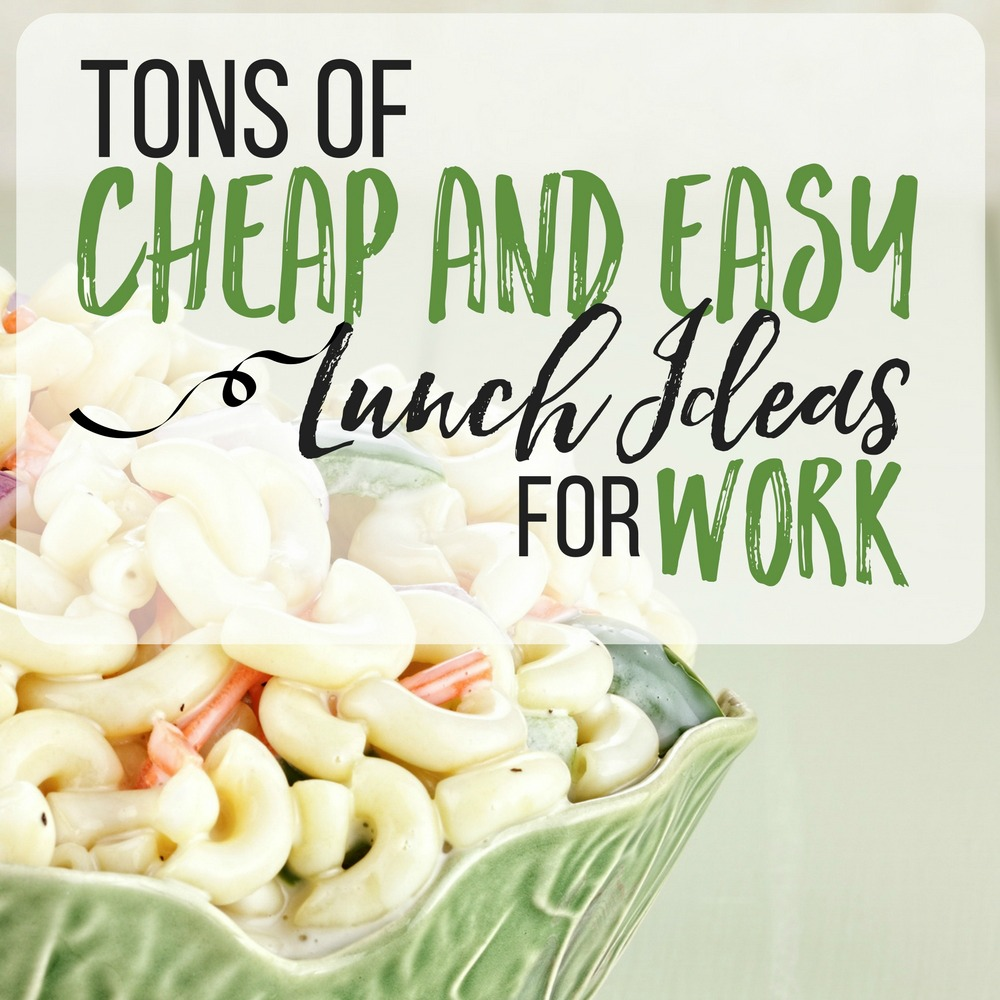 Good list of lunch ideas for work! I was running out of options and these were almost all winners!