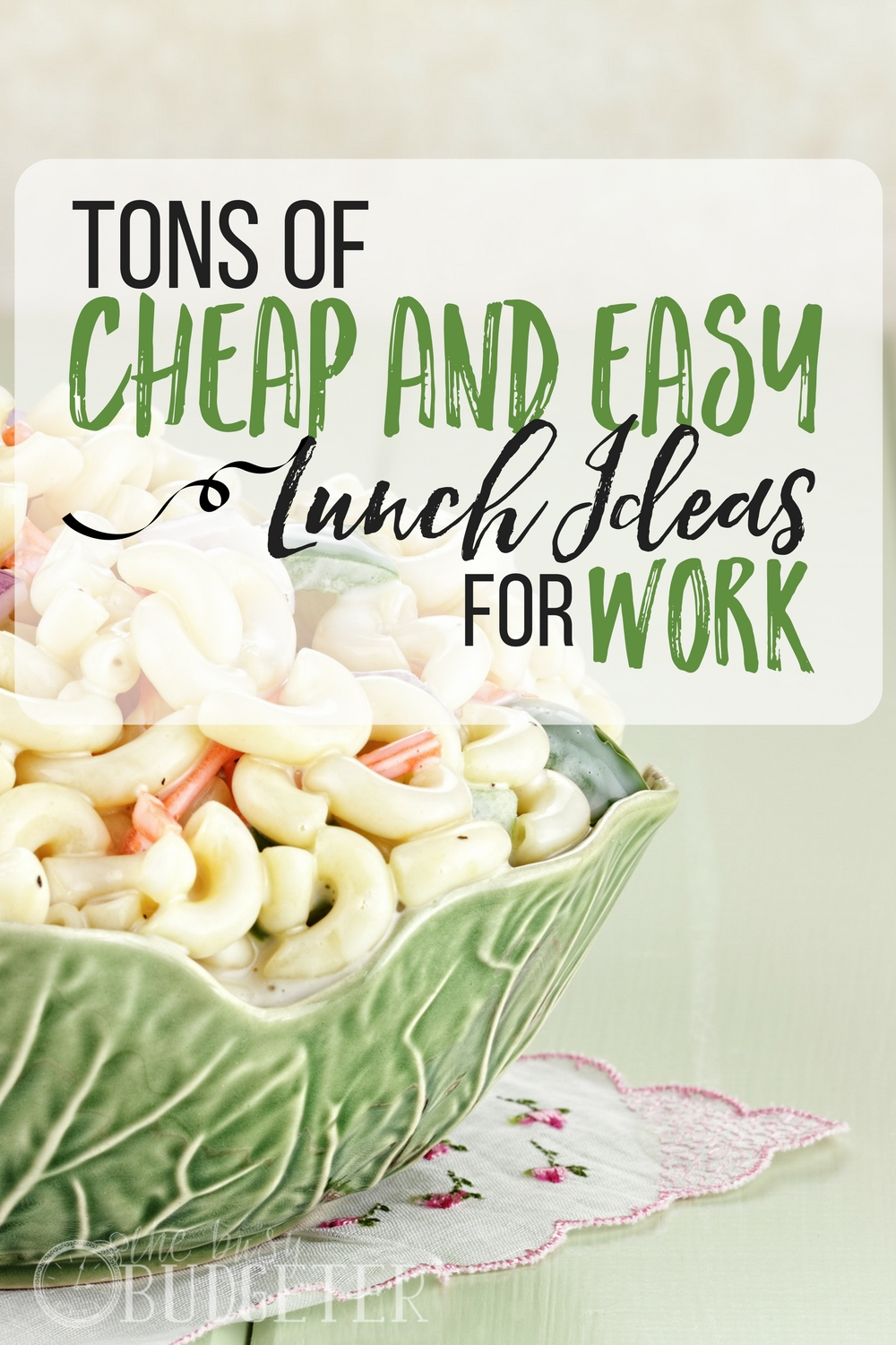 Cheap easy lunch ideas for work the busy budgeter the trick about the crappy tv dinner is the best its weird but we forumfinder Choice Image