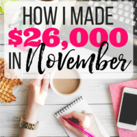How I made $26,000 in November (blog income report)
