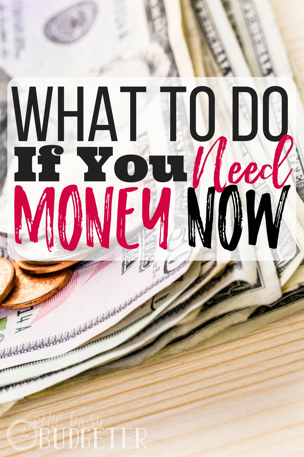 What to do if you need money now. We were already over budget when my youngest ended up in the emergency room with a $2,000 bill. We needed to make money fast and this was perfect! I am already doing 3 of these things and I am up to $500!