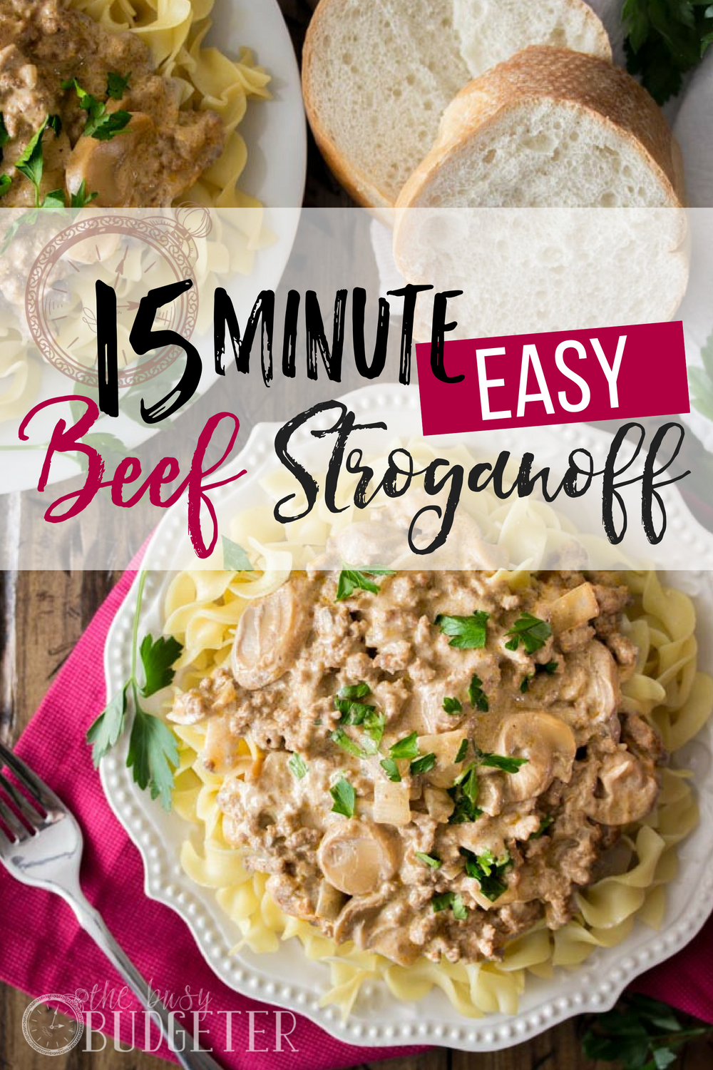 15 Minute Easy Beef Stroganoff- I love comfort food recipes! This 15 Minute Beef Stroganoff was a hit with the whole family and we ate the leftovers for lunch the next day. 2 meals that all of my kids ate. Now that's a win!