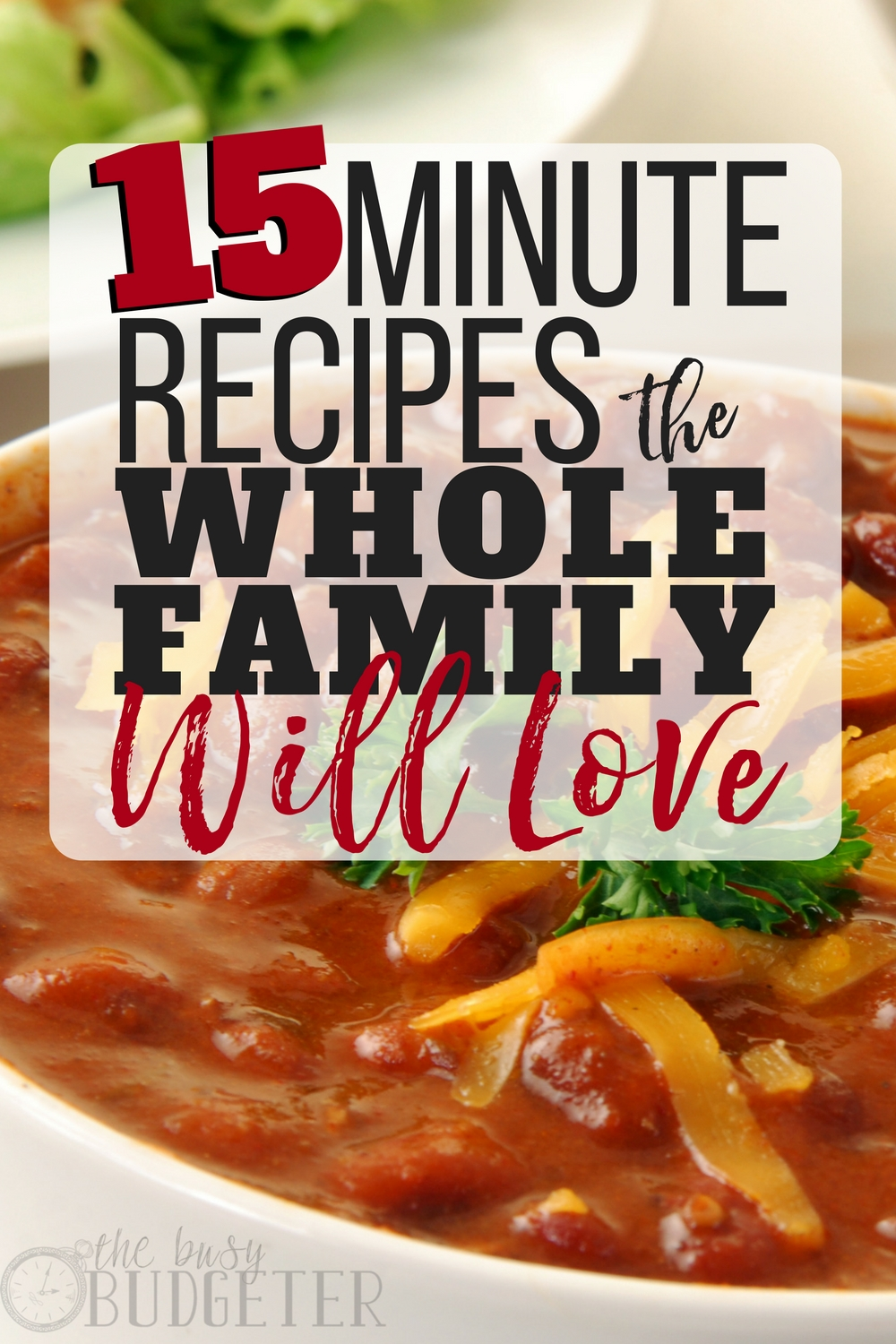 These are great! I love that these 15 minute meals are quick to make, budget friendly, and my family absolutely loves them! My kids always want seconds!! I'm always looking for quick family dinner recipes -- I'm definitely saving this article for later, so I can look at it often!
