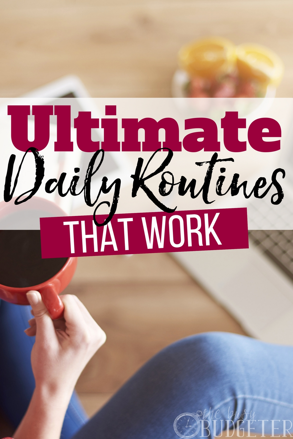 I could NEVER figure out how to create my own daily routines, but I tried step-by-step guide and WOW does this WORK! Feeling less frazzled and more on top of life. Thank you!!