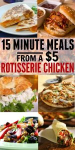 Who knew you could get so many quick family dinner recipes out of ONE rotisserie chicken? Cost-effective, no waste, and TONS of great meal ideas - you can't go wrong!