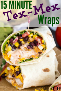 These wraps are so fresh, so delicious, and SO easy to make! We may have found them when looking for quick family dinner recipes but these are perfect for lunches too!