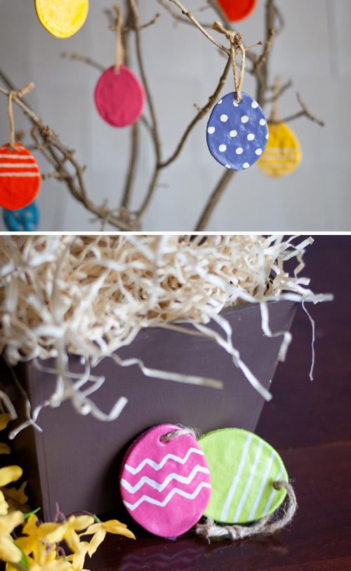 DIY Easter Crafts - these easter eggs are perfect to make because they last forever! They are so easy to make I love this tree - it's a great spring and easter design!