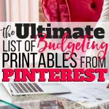 The Ultimate List of Budgeting Printables From Pinterest