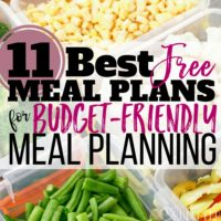 11 Best FREE Meal Plans for Budget-Friendly Meal Planning