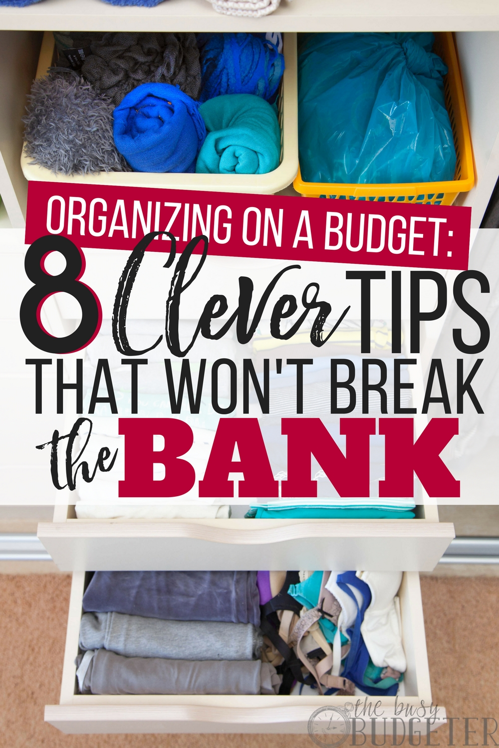 Seriously my house was a mess before I read this article-- I didn't want my living space to look like a dorm and those organization systems are so expensive. This article is full of tips for organizing on a budget and it looks nice too!-- plus it helps me save money, win-win!!