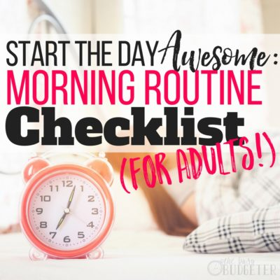 Yes! Creating a morning routine that actually works is such a struggle- this article gave me a step by step morning routine checklist for adults to help me create and stick to an refreshing morning routine for the whole family!