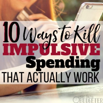 Impulsive spending is a huge problem in our household.. until we read this article. These tips were so easy to implement, it barely felt like we had to adjust our habits at all, win- win!!