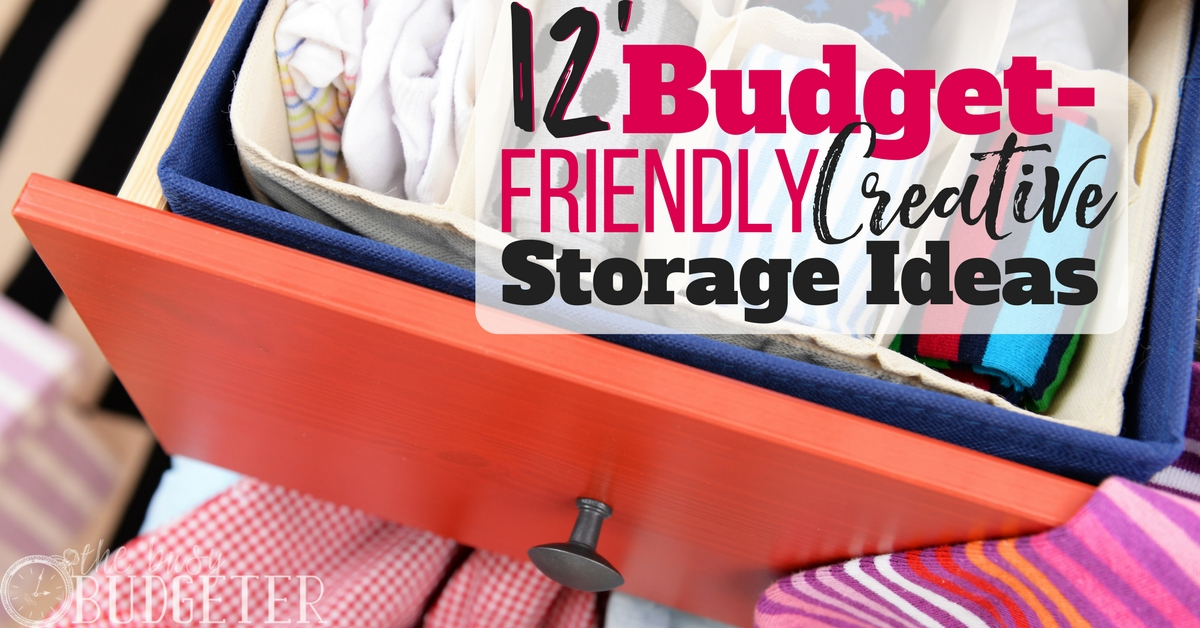 & 12 Budget-Friendly u0026 Creative Storage Ideas | Busy Budgeter