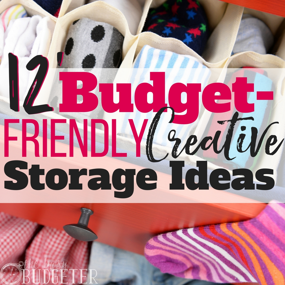 I love these budget friendly storage ideas! I can't even tell you how much I hate clutter-- my husband and kids leave their stuff everywhere! These storage solutions are so easy, I can't believe I didn't think of them before!