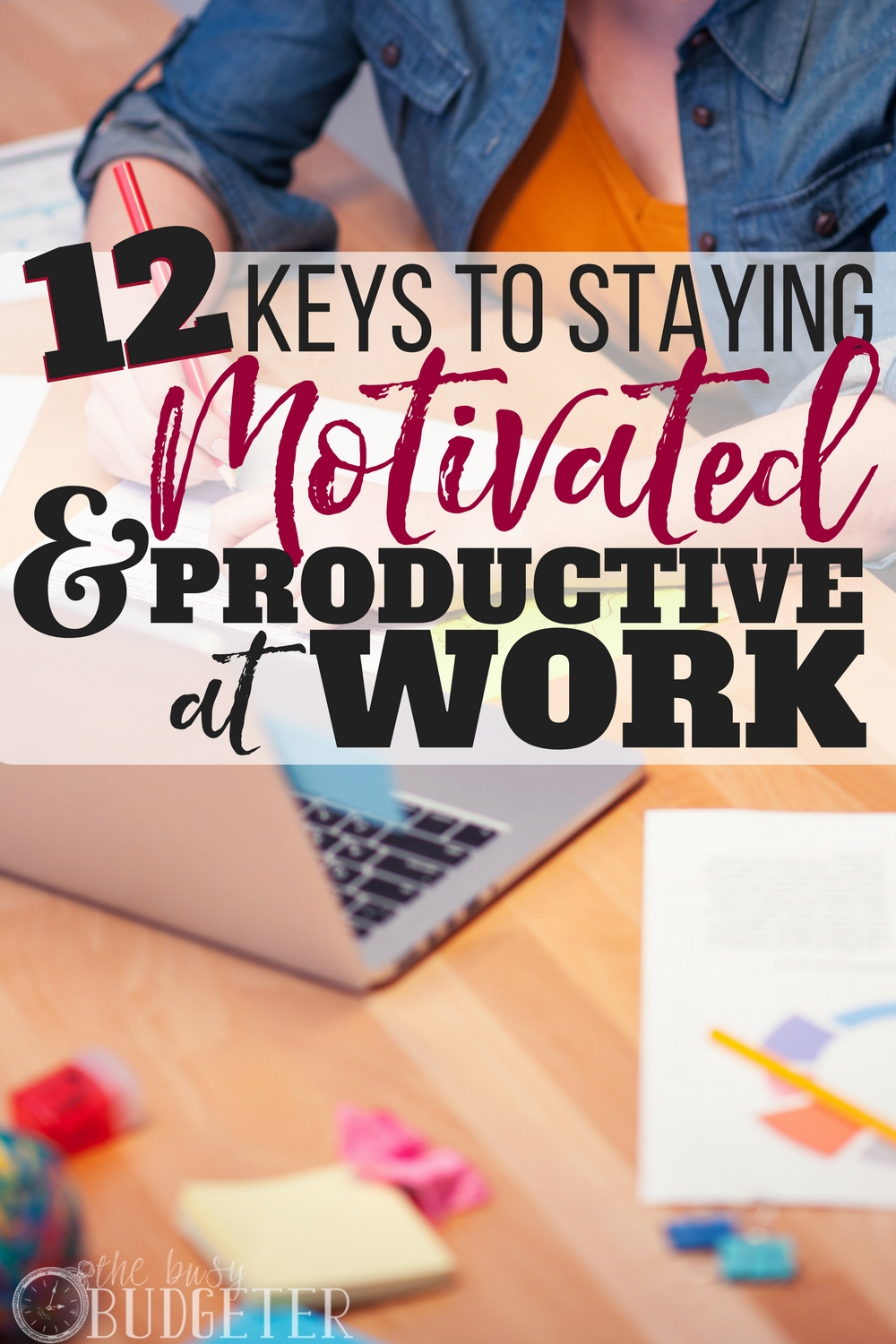 Productivity hasn't always been my strong suit but these tips are great. I got SO much more work done when I started implementing them and it really helped the day go by faster and kept me motivated (my boss even noticed!). Staying motivated at work as never been easier!