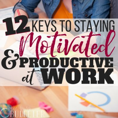 Productivity hasn't always been my strong suit but these tips are great. I got SO much more work done when I started implementing them and it really helped the day go by faster and kept me motivated (my boss even noticed!). Staying motivated at work as never been easier.