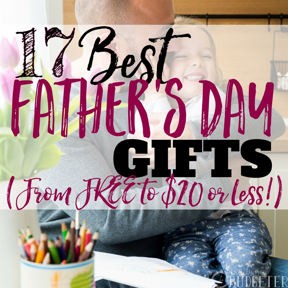 I love this list!! I knew really know what to get my husband on fathers day that will also help us stick to our budget, this article is full of awesome ideas and you really can't get any better when it comes to FREE (or inexpensive!) He's gonna be so excited-- win, win!