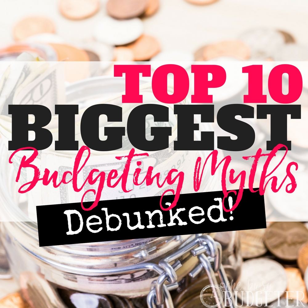 WOW I can't believe some of these biggest budgeting myths! I'm also embarrassed about how much I had wrong about budgeting, saving money, and cutting expenses before reading this article!
