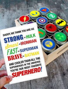 Is your dad your super hero? Show him how super he is with these super hero jars. One of the best gifts for father's day if you love DIY crafts!