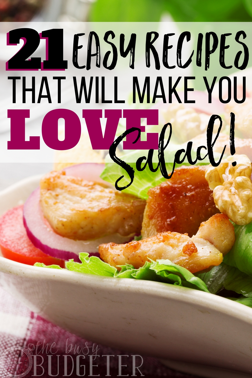 OK I'll admit it, I'm not a huge salad fan but I know it's good for me and my family so I always try to make it at least once a week. But seriously.. wow. These easy salad recipes are such a game changer, I actually WANT salad now!!