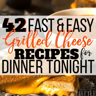 I literally had no idea there were this many ways to make so many easy grilled cheese recipes! This is AWESOME-- my kids are going to love this! What a life saver for when I'm trying to figure out how to save time and save MONEY on dinner!!