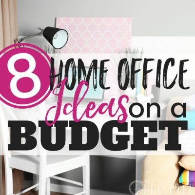 "These home office ideas on a budget are so great! I always wanted a Pinterest pretty office but I couldn't afford to decorate on a budget! These Ideas are cheap, functional, and ""Pinterest pretty""- I feel so much more motivated now!!"