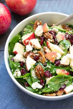 Easy salad recipes don't have to mean boring and flavorless greens and veggies. This apple and pecan salad is sweet, savory, and packed with good stuff to make salads enjoyable again.
