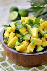 We had to make room on this list of easy salad recipes for this pineapple and cilantro salad! It's the perfect side for a tropical touch on a spicy chicken or fun Mexican dish.