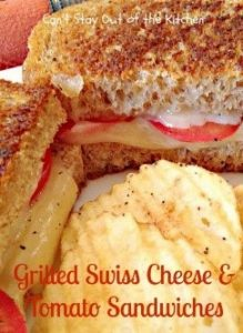 Nothing better to elevate easy grilled cheese recipes than adding some tomato and swiss! It's such a simple idea that totally transforms this classic.